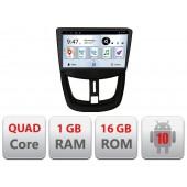 Navigatie dedicata Peugeot 207 Quad Core A-PE01 cu Android Radio Bluetooth Internet 1+16GB
